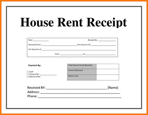 Receipt Template In by Rent Receipt Format In Pdf All Resume Simple