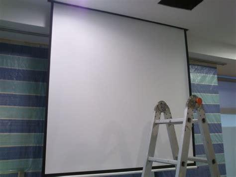 World Screen Projector Motorized 60x60 any tips dot abtus 60x60 motorized projector screen