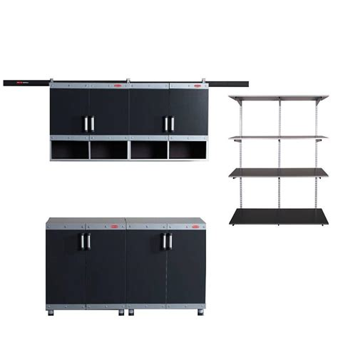 rubbermaid fasttrack garage laminate 4 cabinet set