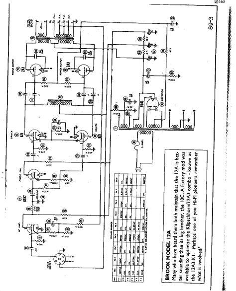 brook  se amp schematic  channel home audio