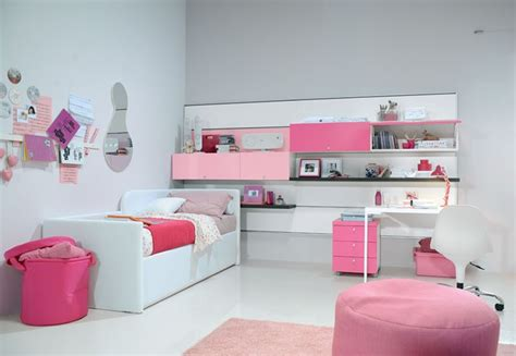 simple bedroom designs for girls simple kids room idea for girl and round ottoman also