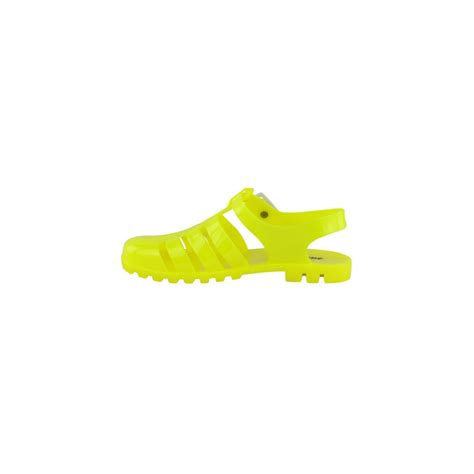 neon yellow jelly sandals jojo neon yellow jelly bean sandals parisia fashion