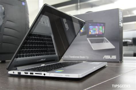 Laptop Asus Transformer Book Flip Tp550 asus transformer book flip tp550 impression and look tipsgeeks