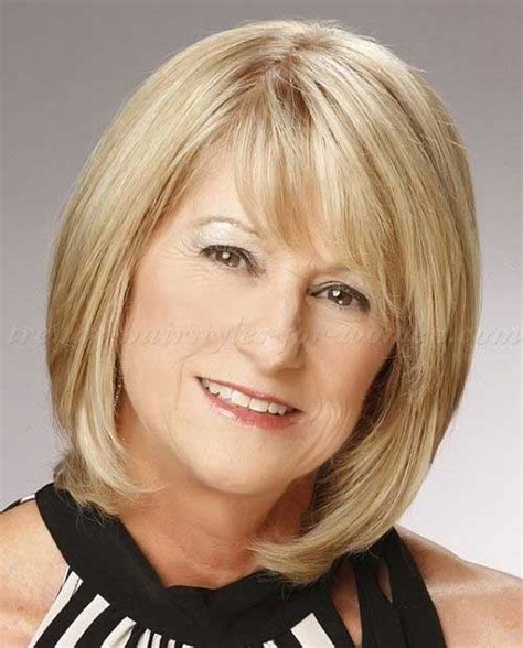 trendy bobs for women over 50 with thin fine hair shoulder length layered hair for older woman target