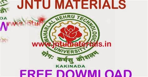 Jntua Mba 1 Sem Results 2016 by Jntuh R13 B Tech 2 2 Materials E Books Notes