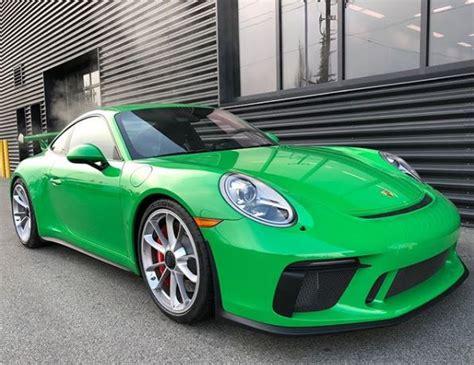 porsche 911 viper green viper green 2018 porsche 911 gt3 comes with quot kermit