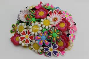 Croc Shoe Decorations Aliexpress Com Buy 1000pcs Lot Big Flower Shoe Charms