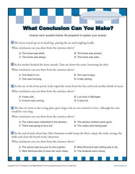 Drawing Conclusion Worksheets by What Conclusion Can You Make Conclusion Worksheets