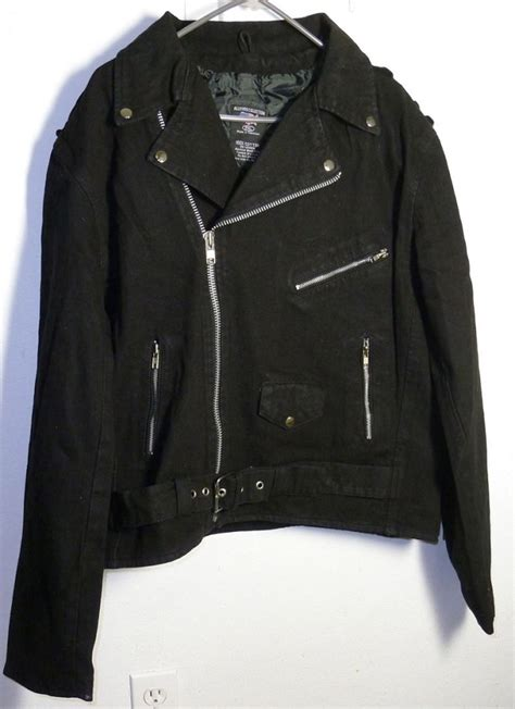 denim motorcycle jacket black denim cotton basic classic motorcycle biker jacket