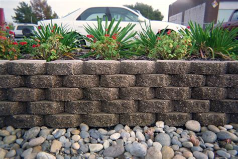 terrace wall driveway accent basalite