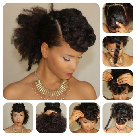 natural hair bun styles with bang hair steamers for natural hair the secret is out
