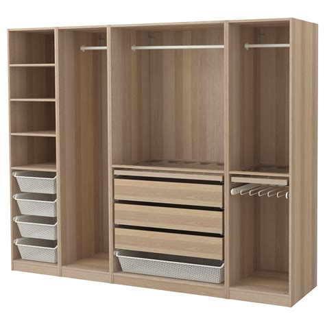 kleiderschrank pax pax wardrobe white stained oak effect 250x58x201 cm ikea