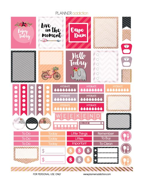 free printable journal stickers free printable carpe diem planner stickers pdf jpg and