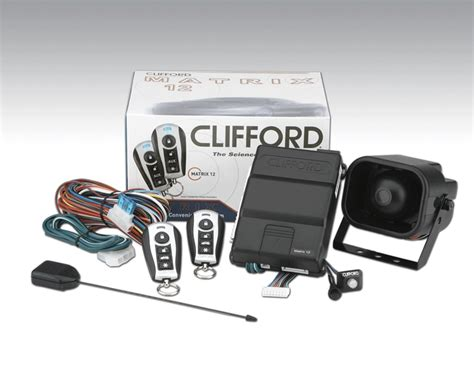 Alarm Mobil Clifford clifford matrix 1 2 car 1 way security alarm system with