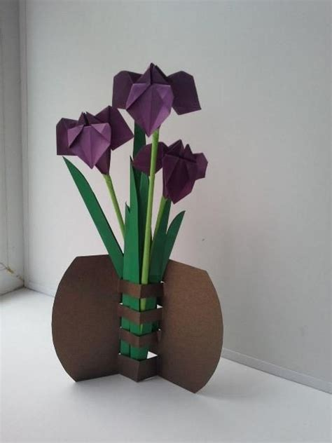 How To Make A Paper Vase - best 25 origami flowers ideas on origami