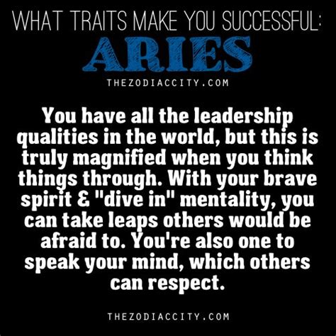 what traits make you successful aries astrology