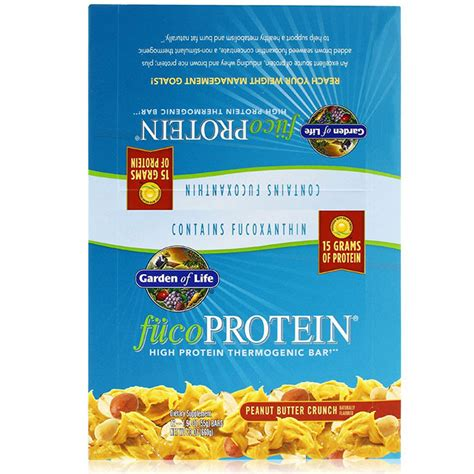 Garden Of Protein Bars Fucoprotein High Protein Thermogenic Bar Peanut Butter