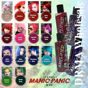 manic panic colors on hair manic panic hair dye manic panic semi permanent hair dye