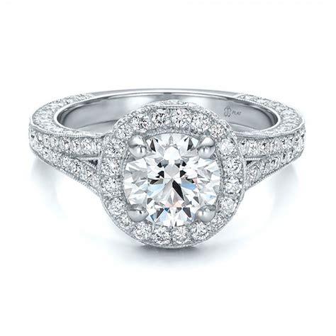 custom halo engagement ring 100644 bellevue