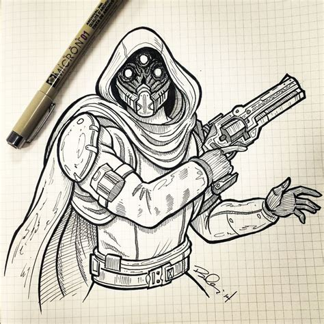 Destiny 2 Sketches by Sketch Destiny Fan Sketches And
