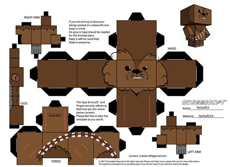 Wars Paper Craft - papercraft chewbacca wars 183 manualidades de papel