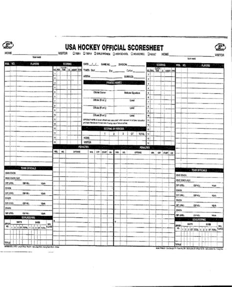 hockey score sheet hockey score sheet for free formtemplate