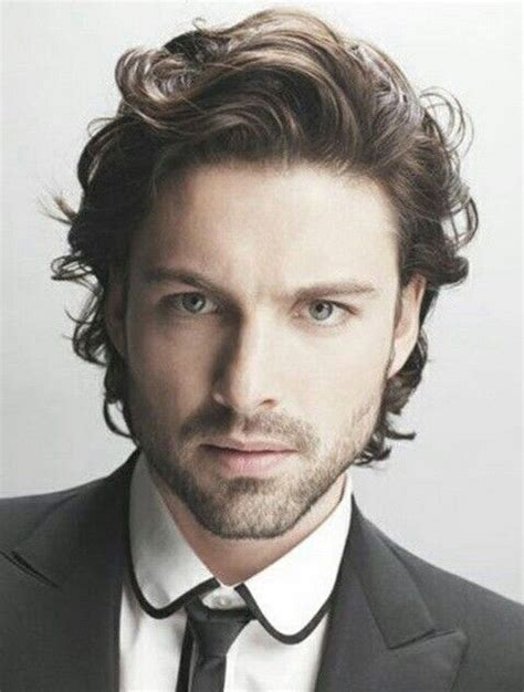mens cuts wavy hair make face look thinner 25 best men curly hairstyles ideas on pinterest men