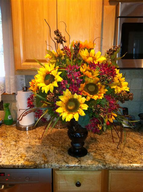 sunflower centerpiece crafted treasures by jojo sunflower centerpieces