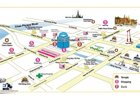 temple grand map about bts bangkok thailand airport map location map of