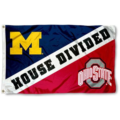 house divided flags house divided flag michigan vs ohio state your house