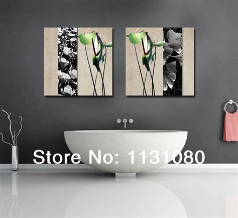 modern bathroom wall decor aliexpress com buy no frame canvas only 2 pieces plant