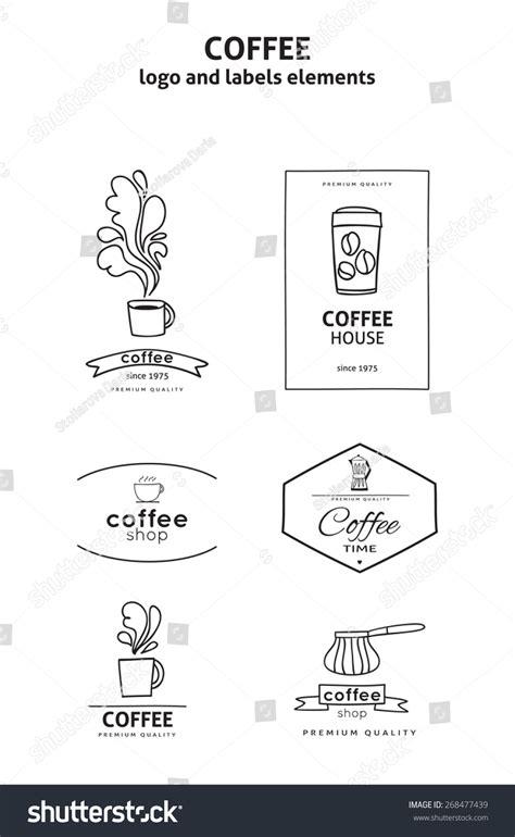 coffee shop design elements vector set of coffee shop logos design elements and