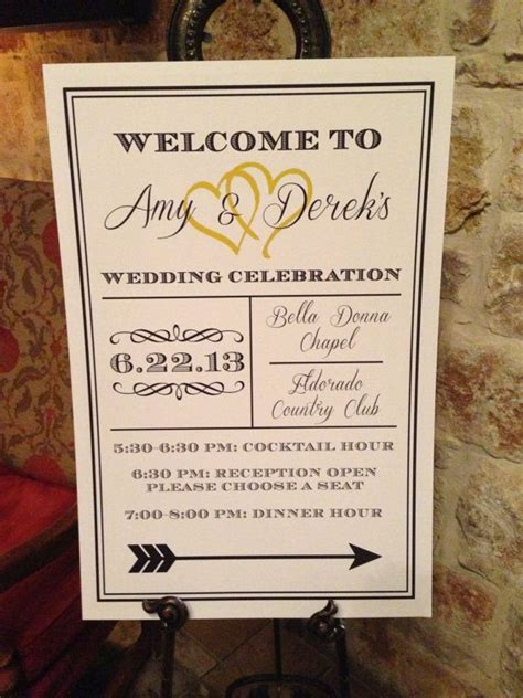 royal wedding reception  sign board poster diy