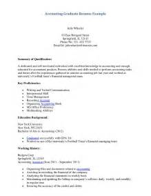 Resume Templates For Recent College Graduates by Graduate Resume Sles