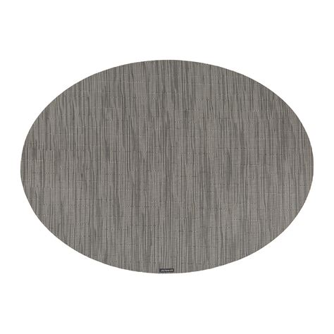 oval placemats buy chilewich bamboo oval placemat grey flannel amara