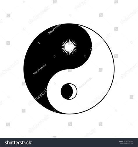 yin  symbol sun moon stock vector  shutterstock