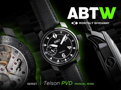 Watch Giveaway - watch giveaway serket telson pvd manual wind ablogtowatch
