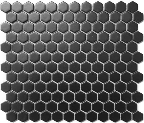 1 white matte hexagon floor tiles hexagon 1 quot black matte porcelain mosaic floor and wall tile