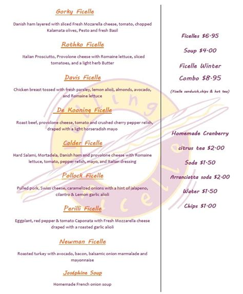 The Rolling Kitchen Food Truck Menu by Rolling Ficelle Dc Food Truck Winter Menu Food Truck