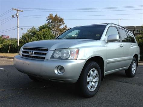 automobile air conditioning service 2003 toyota highlander lane departure warning purchase used 2003 toyota highlander base sport utility 4 door 3 0l in wilton connecticut