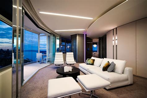 modern apartment interior design  warm  glamour style