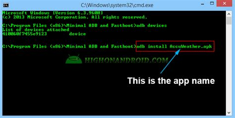 adb apk how to install apk to your android device via adb commands howto highonandroid