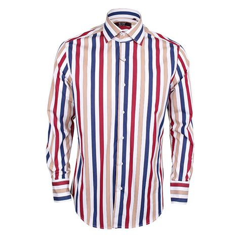 Stripe Sleeve Shirt men s sleeve striped shirt blue david wej