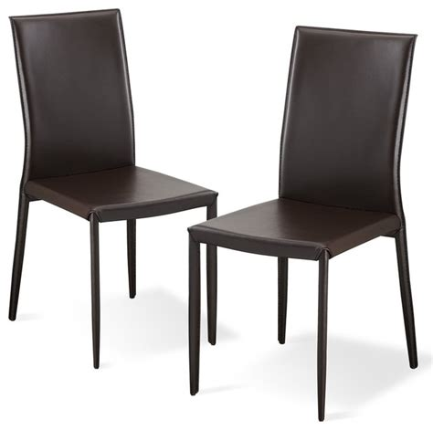 Dining Room Sets Leather Chairs Brown Dining Room Chair Set Modern Dining Chairs