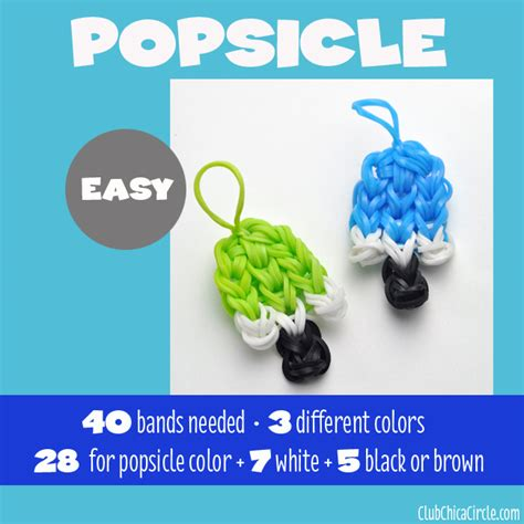 7 rainbow loom charms from easy to advance for to