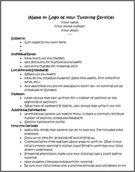 tutor contract template 1000 images about tutor on tutoring business