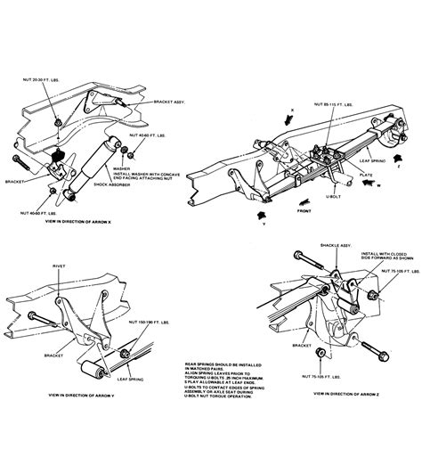 ford f250 front suspension diagram ford bronco suspension diagrams ford auto parts catalog