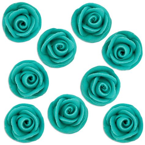 Edible Decorative Paint Teal teal icing roses layer cake shop