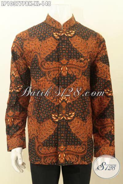 Hem Koko batik hem koko krah shanghai halus lengan panjang size xl