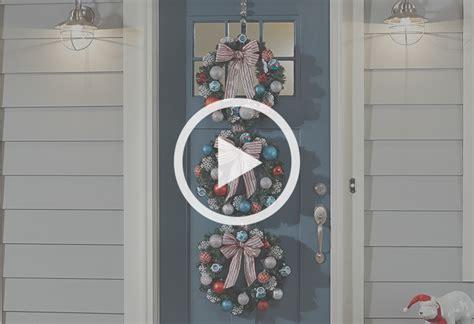 triple wreath door hanger   home depot